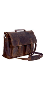 18 Inch Buffalo Leather Briefcase Laptop Messenger Bag Office Briefcase College Bag