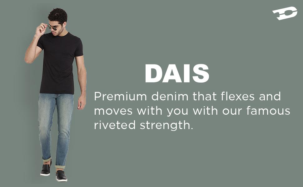 dais jean t-shirt stretchable jeans