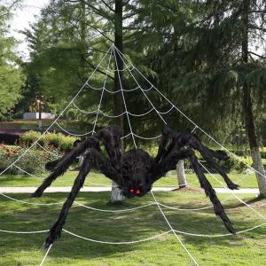 Triangular Spider Web with Giant Spider