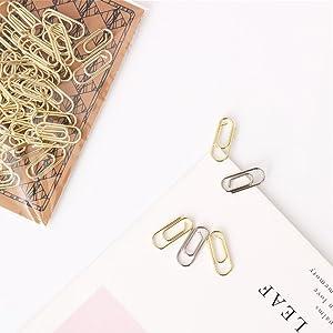 Gold mini paper clips