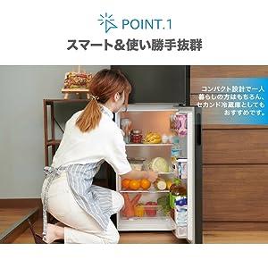 maxzen 冷蔵庫 138L 一人暮らし 2ドア マクスゼン コンパクト JR138ML01GM