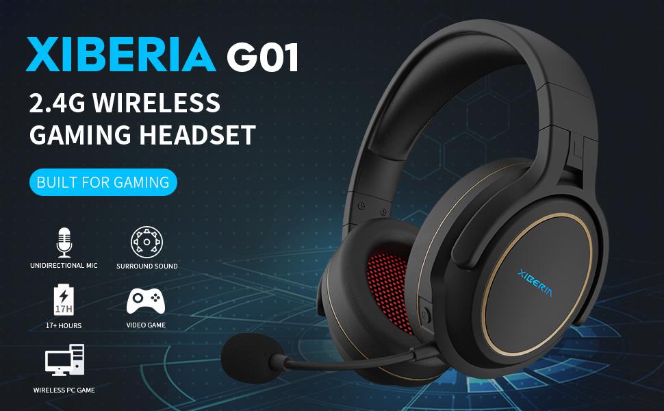 2.4g wireless gaming headset