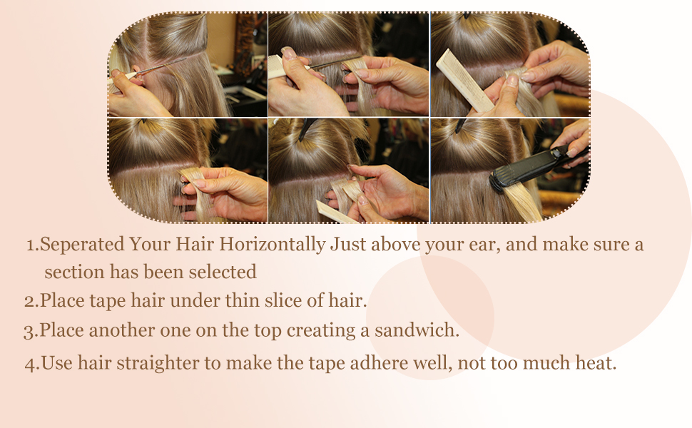 how to use tape in hair