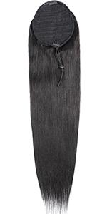 straight ponytail hair