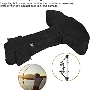 Crossbow Bag Case Lightweight Outdoor Hunting Archery Bow Arrow T-Shape Pouch