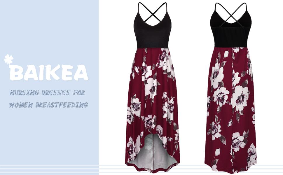 BAIKEA Nursing Dresses for Breastfeeding