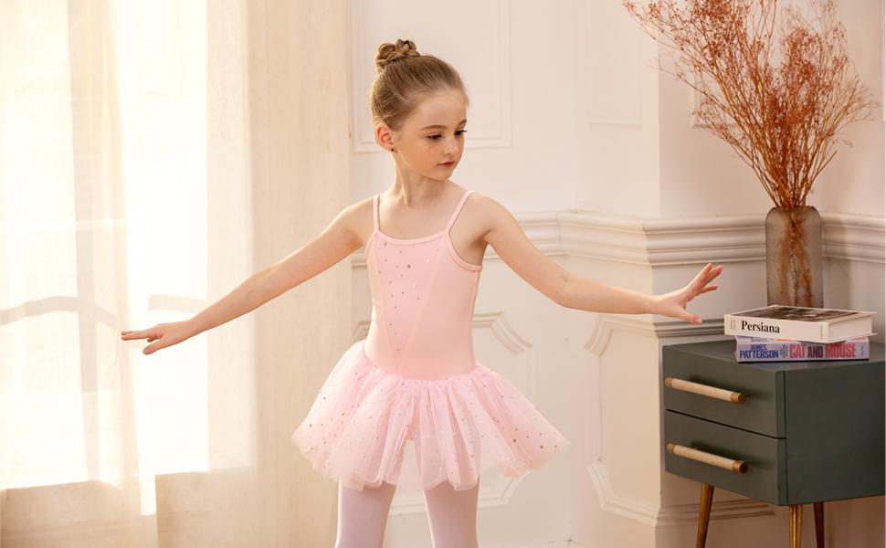 Zaclotre Girls Gymnastics Skirted Leotards Ballet Tutu Dance Dress