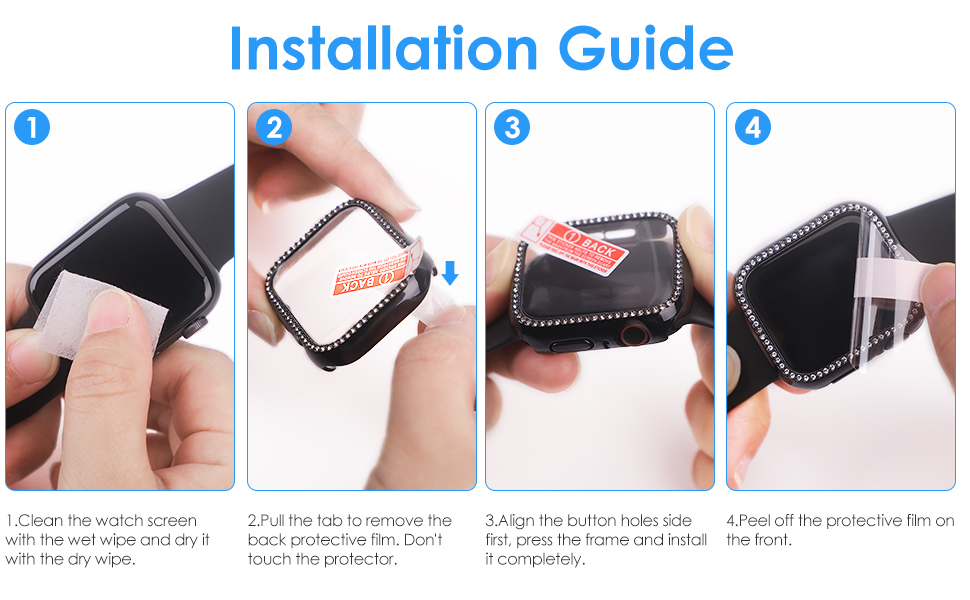 Bling Apple Watch Cover Installation Guide