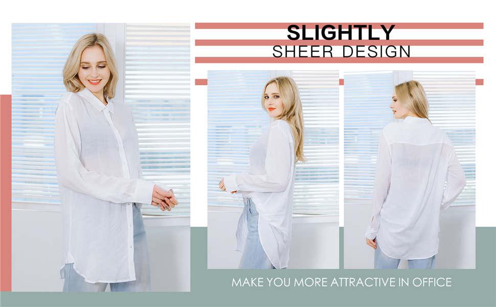 Womens Long Sleeve Button Down Shirts