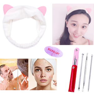 free gift hairband and blackheads removal kit