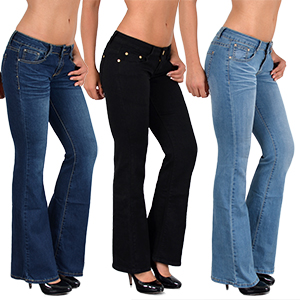 Bootcut Jeans mit Risse