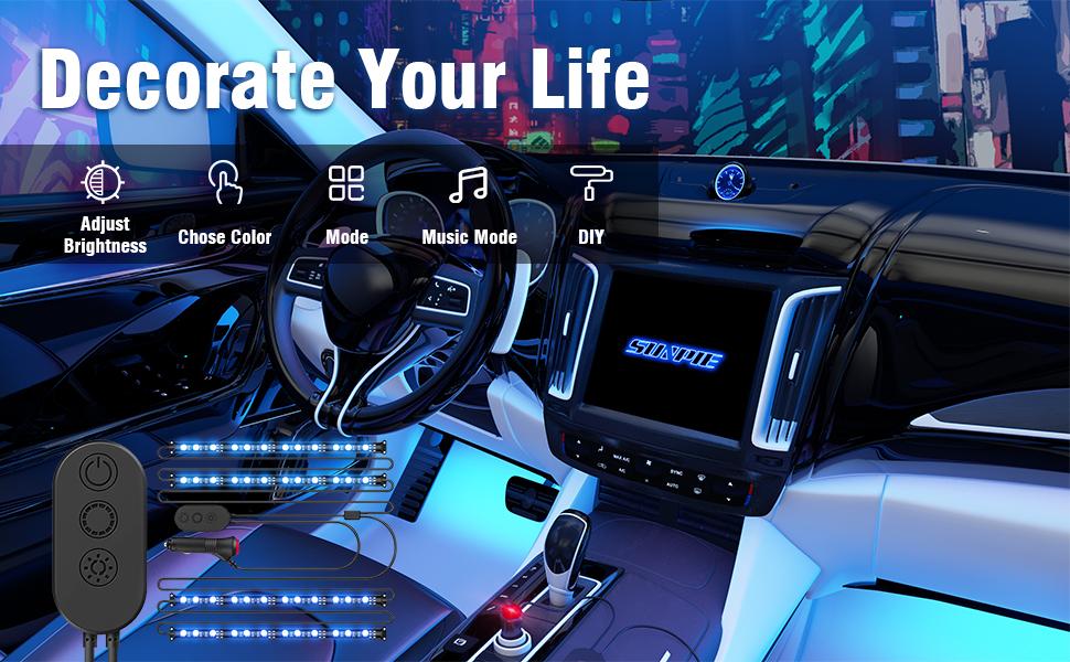 car strip lights interior
