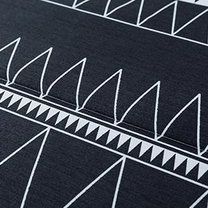 black boho comforter set