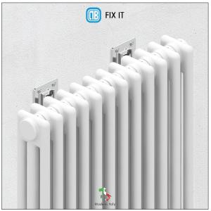 Id/éal pour les cloisons s/èches et les murs standards 100 kg. Charge maximale Fixation pour radiateur tubulaire avec r/églage vertical