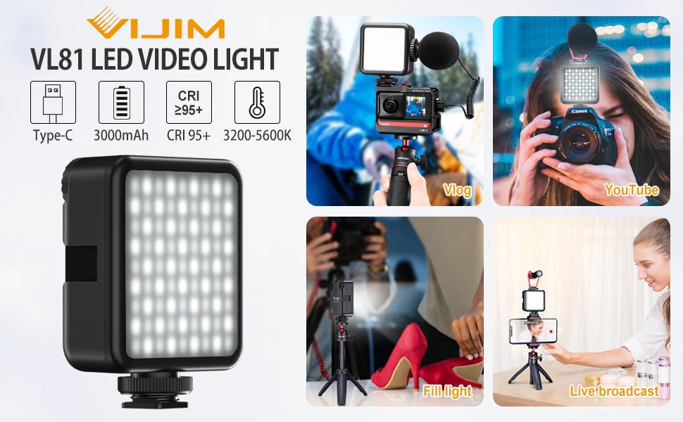 luce video: Vlog, fotografia, riprese video, trasmissione in diretta, Youtube, Tik Tok, Facebook