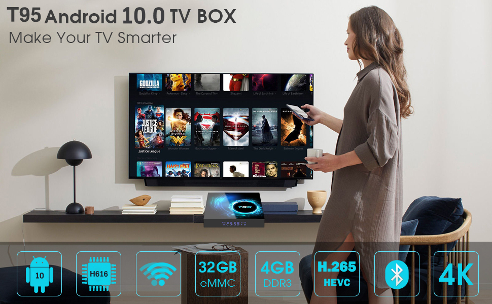 t95 android smart tv box