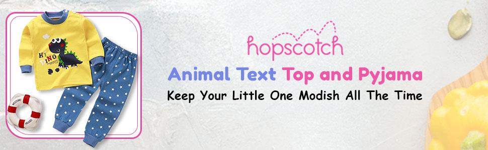 B08HKZ6G4K Animal Text Top PYjama- SPN-FOR1