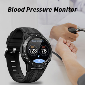 smartwatch with blood pressure monitor
