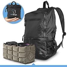 Fully-packable ultra-light backpack