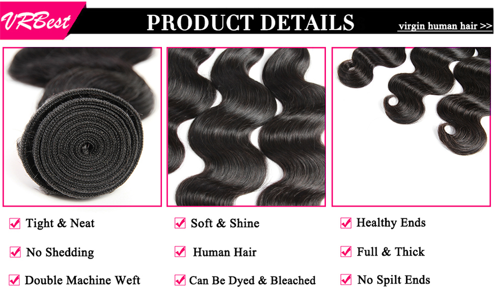 Body Wave Bundles Detalls