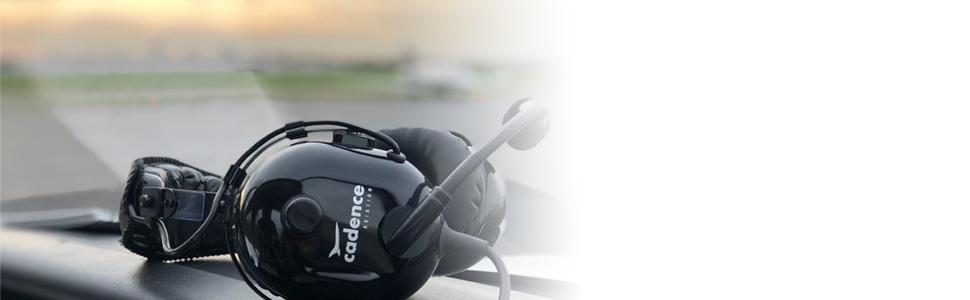 cadence aviation headphones in airplane