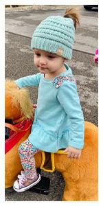 childrens beanie ponytail messy bun kids beanietail