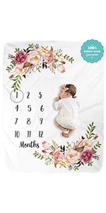 baby milestone blanket newborn monthly blankets memory blankets floral blankets baby shower gifts