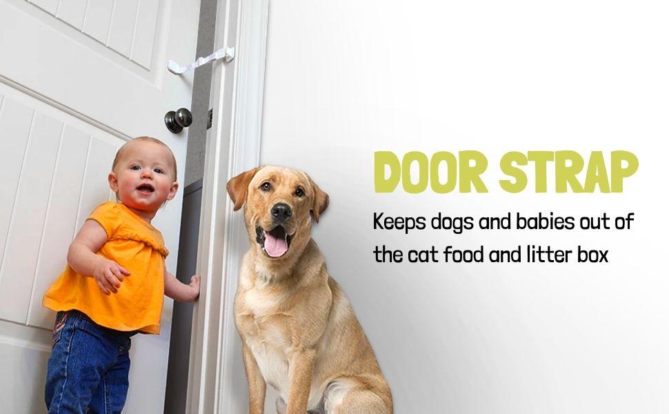 dog proof litter box door strap by door buddy