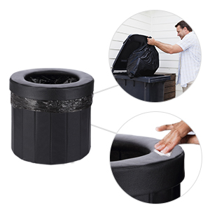 Long Trips and Traffic Jam OOCOME Portable Folding Toilet Camping Toilet Foldable Car Toilet Porta Potty for Camping Hiking