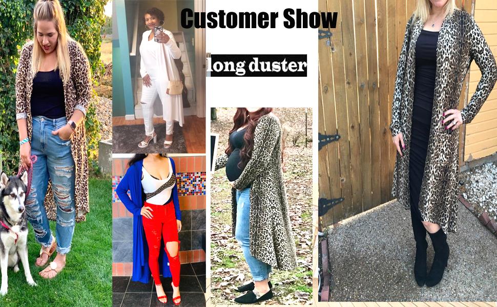 women long duster cardigan