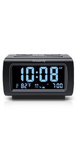 Alarm Clock Radio with Full Range Dimmer
