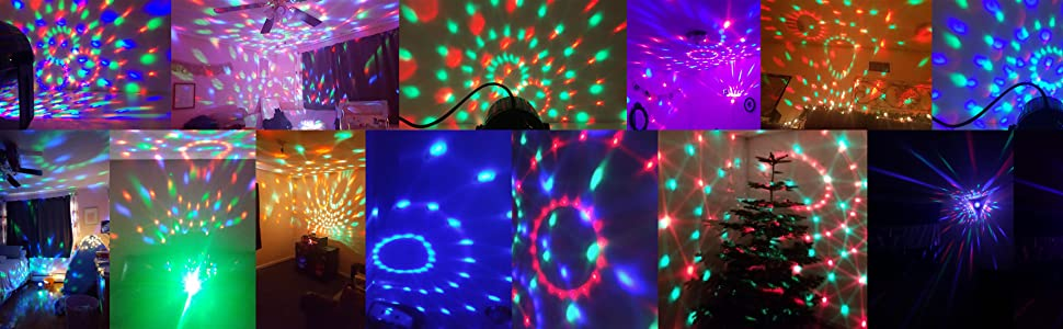Sound Activated Party Light, Spriak Disco Light Disco Ball - Remote Control, 7 Modes - Best Dj Dance Lamp Strobe Lights for Birthday Xmas Festival ...