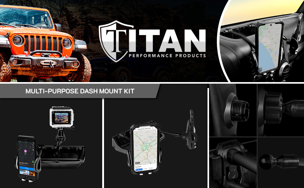 titan multi-purpose dash mount kit