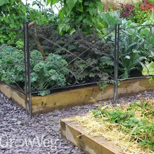 AshmanOnline Galvanized Garden Fence 24in x 10ft - Outdoor Rustproof Metal Landscape