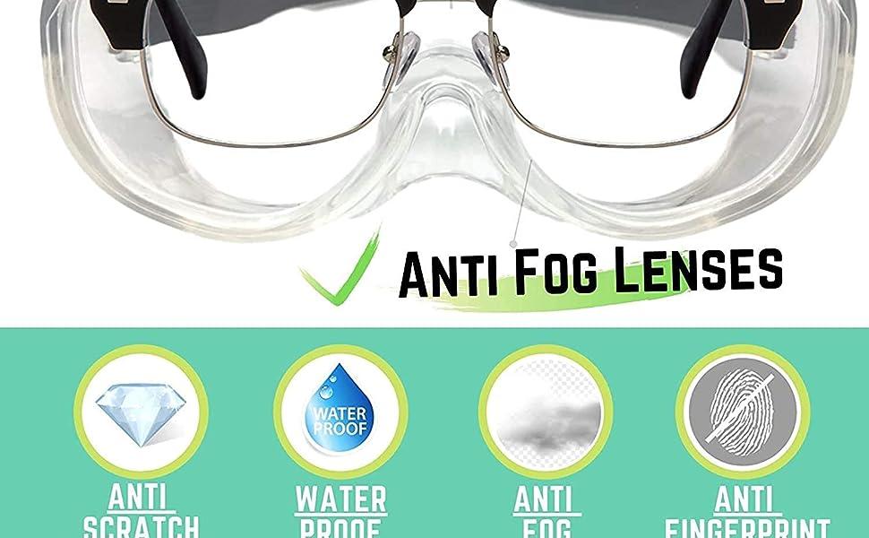 Anti fog lenses