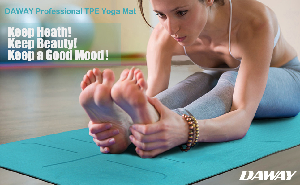 DAWAY Professional Yoga Mats - Ensure Best Experience of All Level of Yogis!