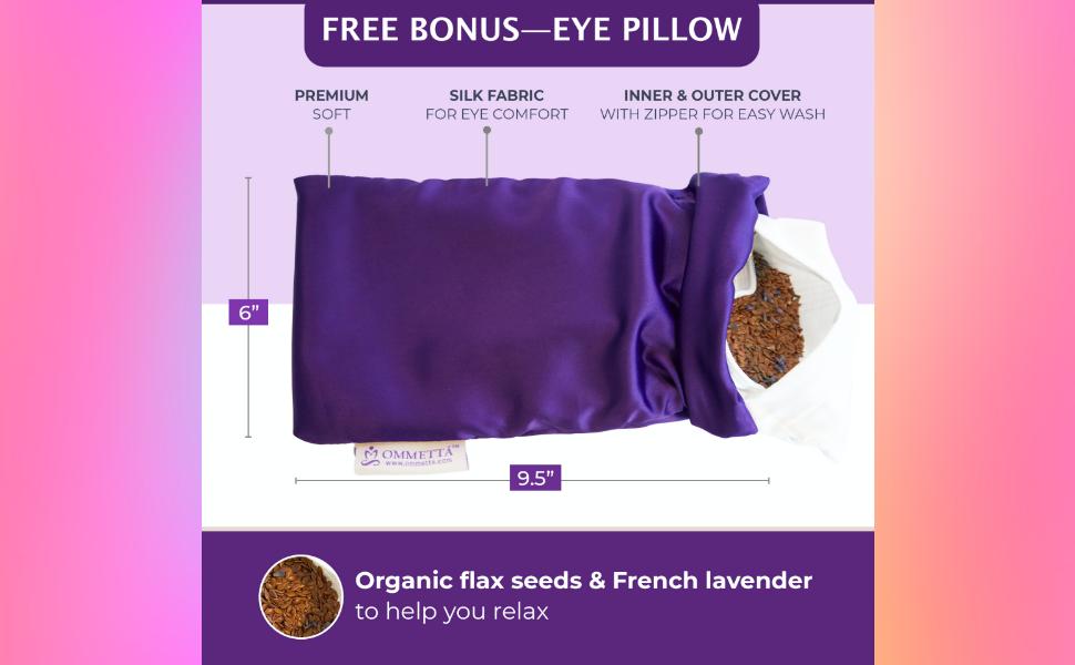 eye pillow hand free
