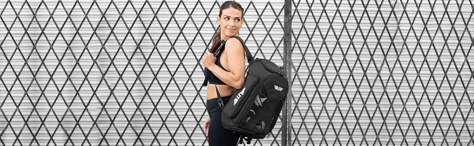 Gym Duffle Bag for MMA, BJJ, Jiu Jitsu,  Elite Sports Duffel Athletic Expandable Gym Backpack