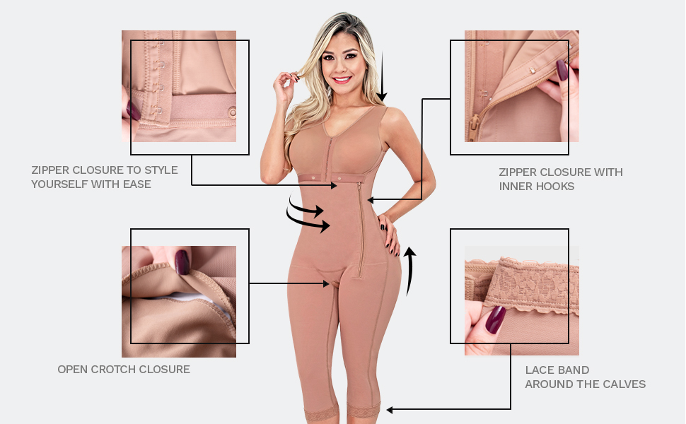 Full Body Shaper Girdle for Women Post Surgery Liposuction Fajas Reductoras y Moldeadoras