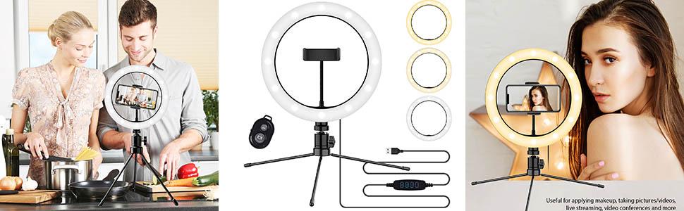 photography accessories ring light live stream universal photo lighting studio phone holder mount