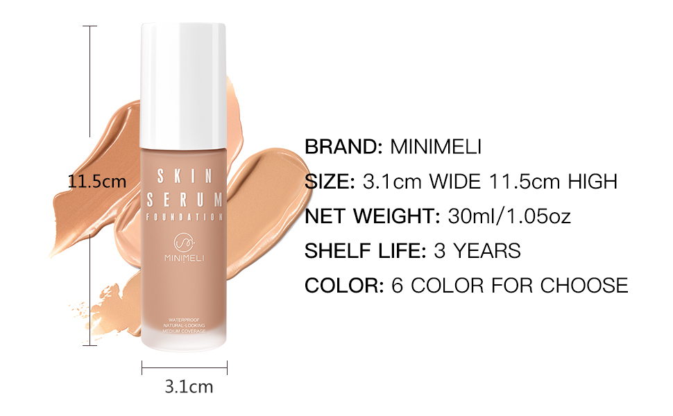 MEDIUM COVERAGE LIQUID FOUNDATION FLAWLESS FINISH LONG LASTING SMOOTH CREAMY TEXTURE FACE MAKEUP