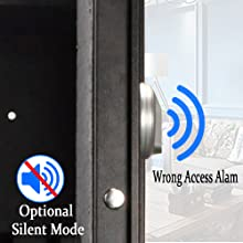 Optional silent mode and wrong access alam