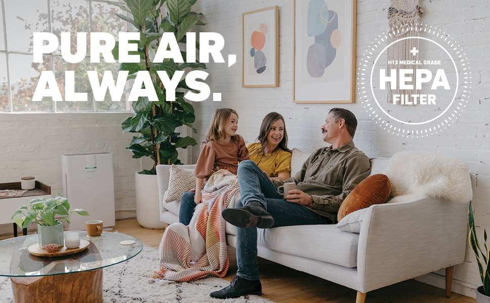 Breath pure air always with the Hathaspace Air Purifier with HEPA Filter for Large Rooms