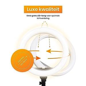 Verstelbare LED- ringlamp