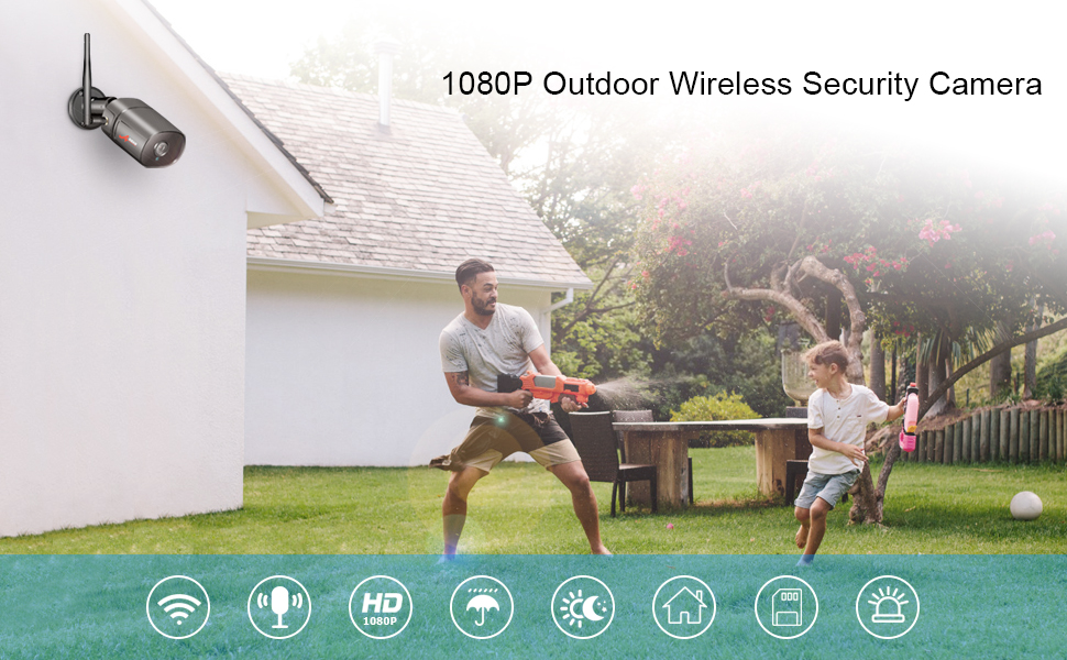 Outdoor Wireless Security Camera 1080P