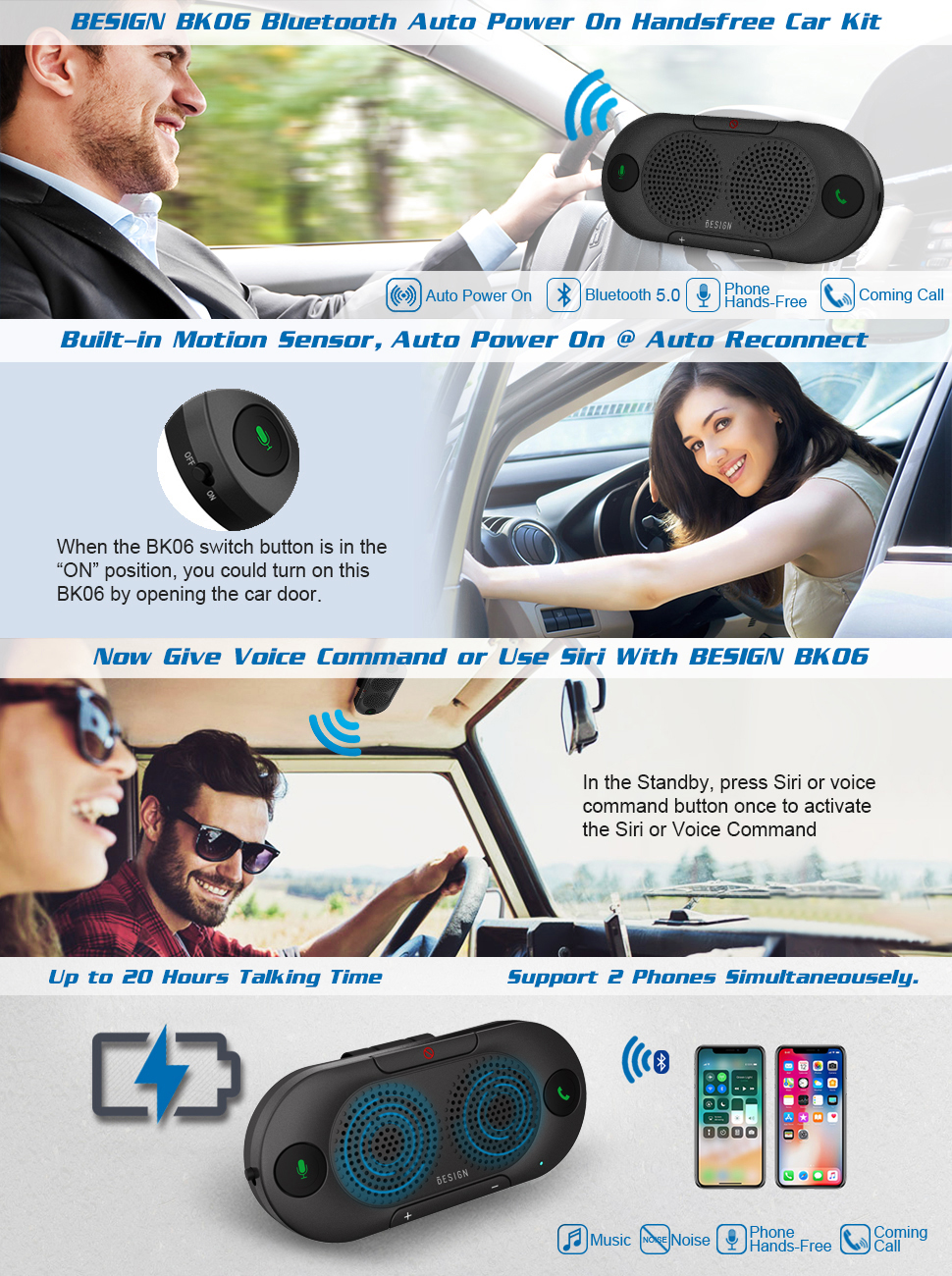 BK06 bluetooth car speakerphone