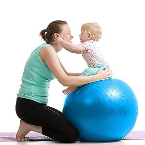 ROLAZ Exercise Ball Yoga Stability Ball Women Pregnancy Birthing Office Chair Ball