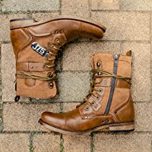 Brown Color Military Boots for Men