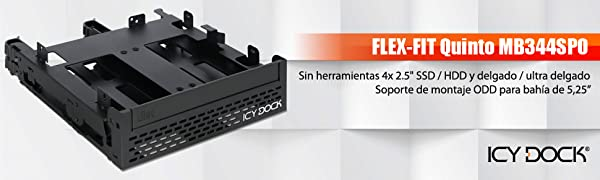 Icy MB344SPO - Carcasa para Disco Duro SSD/HDD 4X: Amazon.es ...