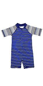 Baby boy s/s sunsuit swimsuit stripe black